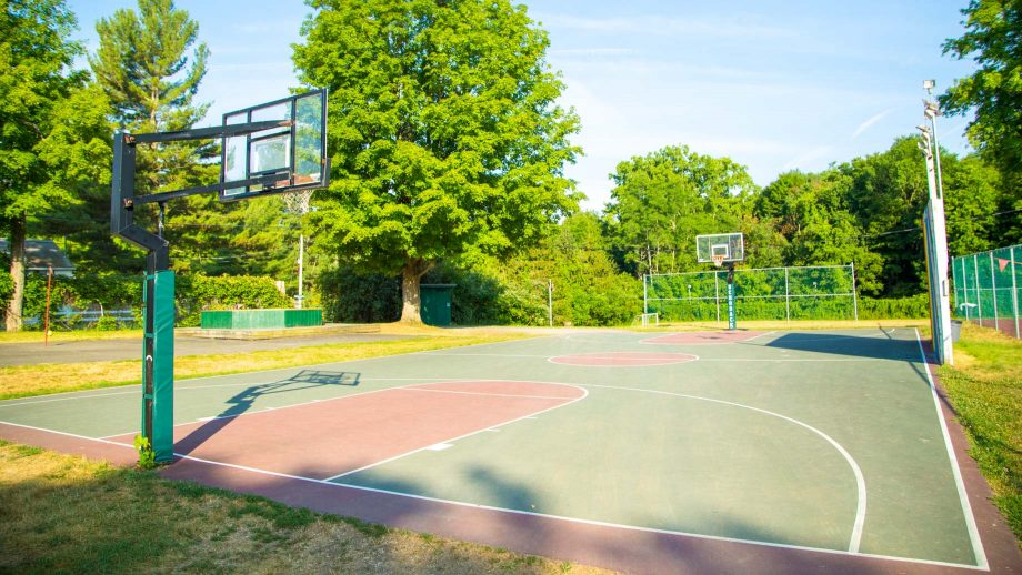 Outdoor basketball court at Camp Schodack