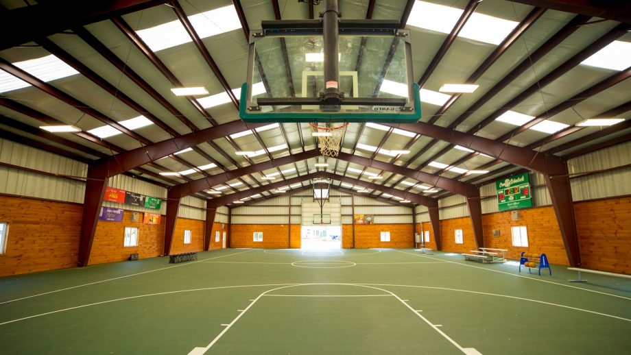 Wide view of Camp Schodack's gym interior