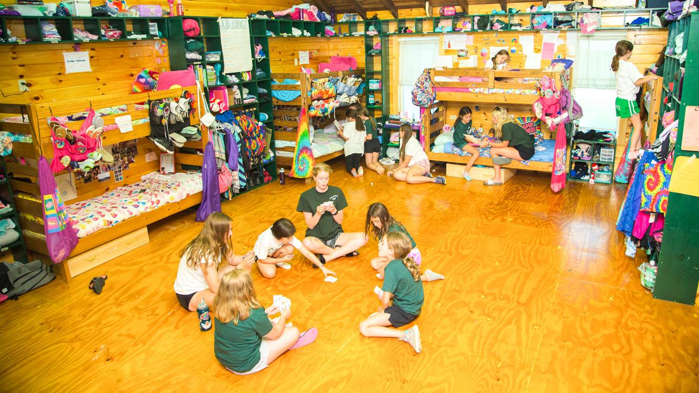 Interior view of Camp Schodack girls cabin