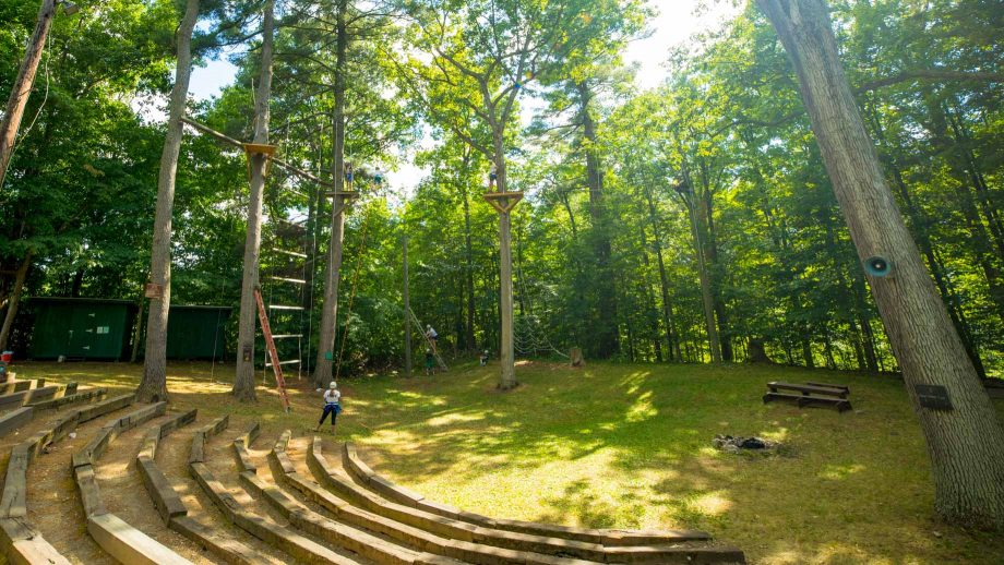 Camp Schodack outdoor amphitheater and high ropes course
