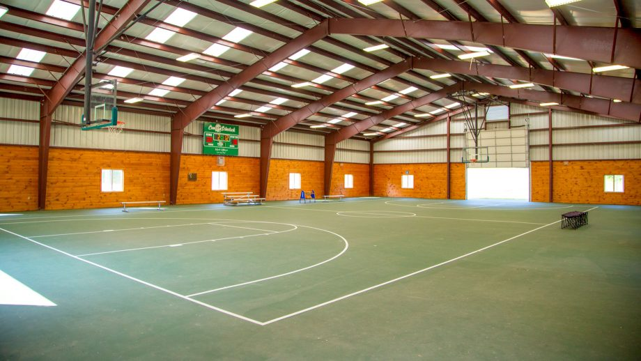 Interior view of Camp Schodack rec hall