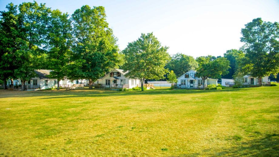 Wide view of Camp Schodack cabins